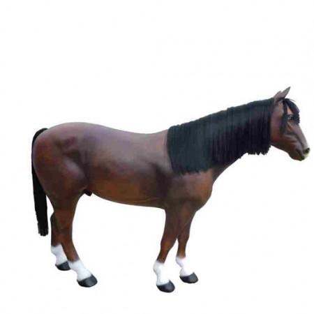 Koń z grzywą 190 cm - figura reklamowa