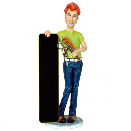 Fryzjer 180 cm - figura reklamowa